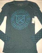 MWT AEROPOSTALE GRAPHIC TEE SHIRT TOP hearts BLUE  JUNIOR M (GIRLS 12 14)