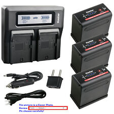 Kastar Battery Dual LCD Fast Charger for Canon BP-955 Professional Camcorder