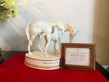 ROYAL WORCESTER   Horse  PRINCE'S GRACE & FOAL + cert Doris Lindner superb