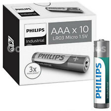 10 AAA Philips Industrial Procell Alkaline Batteries MN2400 LR03