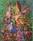 "''Tree With Beautiful Birds ""' Original Oil Painting By Tatiana Oles"