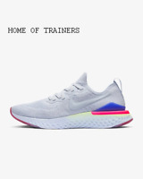 Nike Epic React Flyknit 2  Hydrogen Blue Black Lime Men's Trainers All Sizes
