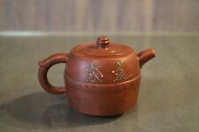 Théière signée en terre cuite aux caractères Chine Yixing chinese teapot