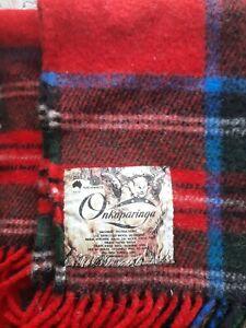 Onkaparinga tartan throw,knee,picnic,travel blanket.pure wool.guc.