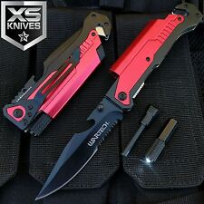 "8.75"" TACTICAL MULTI-FUNCTIONAL Red Spring Assisted Pocket Knife Outdoor Rescue"