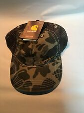 Carhartt Men's Brandt Hat Rugged Camo Snapback Mesh Back Baseball Cap OSFA New