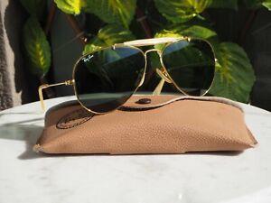 Sunglasses vintage Ray Ban Outdoorsman II Aviator 58¤14 Bausch & Lomb + Case