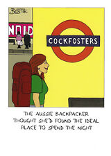 Backpacker - Funny Humour Card - C ~ FREE POSTAGE UK