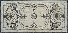 "40""x 20"" Geometrical Rug Handmade Floor Pattern Home Entrance Marble Mosaic Art"