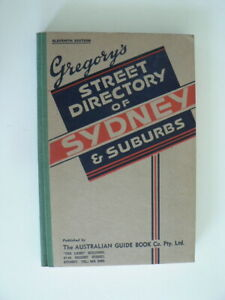 Gregory's Street Directory Sydney 11th ed 1943 Near mint cond, make an offer