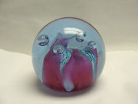 """VIintage CAITHNESS Art Glass, Scotland """"Checkpoints"""" PAPERWEIGHT"""