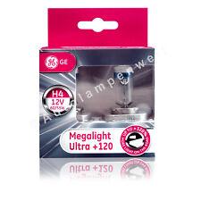 GE Megalight Ultra H4 Halogen Plus 120% DuoPack (2 Stück Glühlampen)