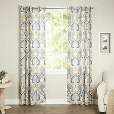 Jaipur Single Curtain Panel - Blue