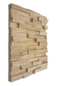 Wandverkleidung, Paneele, Riemchen, 3D Wandpaneele, Holzpaneel 10m²