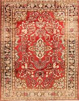 RED Hand-Knotted Lilihan VINTAGE Area Rug Wool Oriental Floral Carpet 5x7