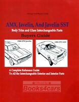 AMX JAVELIN AMC RESTORATION PARTS INTERCHANGE MANUAL BOOK BUYERS GUIDE