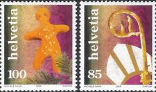 Switzerland 2005 Christmas/Greetings/Tree/Gingerbread Man/Mitre 2v set (n46072)