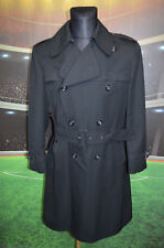 MELKA BLACK COAT (L/XL ?) TRENCH OVERCOAT VTG RETRO RARE VINTAGE EXCLUSIVE