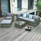 Yitahome 6 Pcs Rattan Wicker Sofa Sectional Set Patio Furniture Garden Backyard