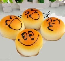 10Pcs Randomly Squishies Kawaii Buns Bread Smell Charms Cellphone Straps 4cm