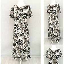 Debenhams Maxi Dress 16 Floral Party Cocktail Short Sleeve Cowl Neck Formal