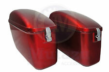 LW Hard Saddle bags burgundy red fits most Vulcan VN 750 800 900 1500 1600 1700