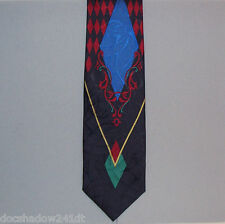 Van Heusen BAKER STREET Geometric Print Silk Neck Tie hand made in Italy #893