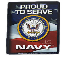 U.S. Usn Navy Proud To Serve Military Mini Magnet (Car / Fridge / Other)