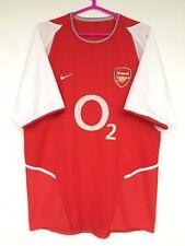 ARSENAL LONDON 2002 2003 2004 NIKE HOME FOOTBALL SOCCER SHIRT JERSEY RED