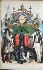 1850 circa VAN TENAC, HISTOIRE GÉNÉRALE DE LA MARINE, MARINERIA MARINA PIRATERIA