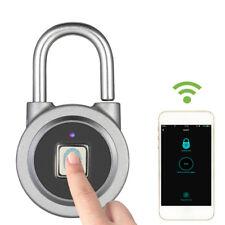 Anti-Theft Smart Fingerprint Keyless Bluetooth Phone APP Padlock Door Lock R1C6