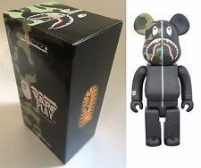 Medicom Toy Be@rbrick Bearbrick BAPE CAMO SHARK Black 400%