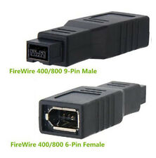 400/800 FireWire 6-Pin Female to 9-Pin Male IEEE1394a 1394b Adapter Converter
