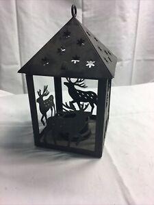 Elk Candle Lantern Metal