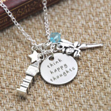 Peter Pan Inspired Peter Pan Think Happy Thoughts crystals necklace