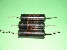 3 Sprague Black Beauty Capacitors .22 mfd 400 vdc