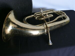 C.G. Conn Baritone with mouthpiece and case.