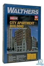 Walthers 933-3770 City Apartment Background Building Kit HO Scale Train