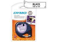 "DYMO LetraTag 16952 Printer Tape Cassette 0.50"" Width x 13 ft Length - 1 Each -"