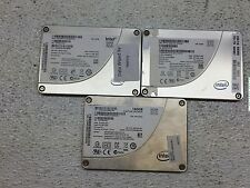 """Lot of 3 160GB 160 GB 2.5"""" SATA Intel Solid State Drives SSD's *TESTED*"""