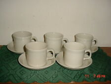 """10-PIECE WEDGWOOD """"GREYSTONE"""" COFFEE CUPS & SAUCERS/ENGLAND/STAMPED/FREE SHIP!"""