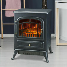 Fireplace Electric Heater Metal Flame Effect Home Living Room Stove iron  1850W