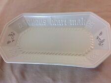 Pfaltzgraff Heirloom Octagon Bread Serving Platter Tray - A Joyous Heart Makes..