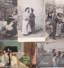 # AMORE - BACI APPASSIONATI  19300 - 1930 - 5 CARTOLINE