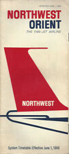 Northwest Orient Airlines system timetable 6/1/66 [0112]