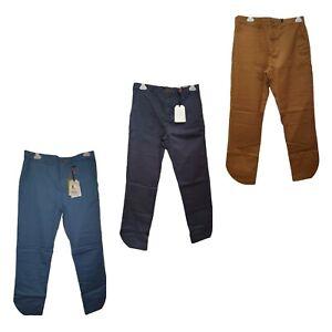 Ex White Stuff Mens Banbury Stretch Chino Blue Navy Tobacco 30 32 34 36 38 NEW