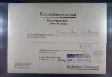 Camp Oflag XIIIB Nürnberg Langwasser 1943 POW Prisoner Kriegsgefangenenpost L0