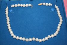 Vintage OCP 8 mm Pearl & 14K Clasp Necklace in Adi Paz Box 18""