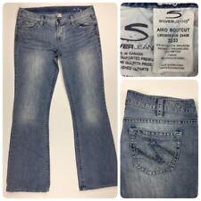 Silver Womens AIKO Bootcut 32/33 Denim Blue Jeans