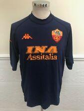 Kappa AS Roma 3rd Third Kit 2000-2001 Navy Blue Shirt Jersey Maglia Size XXL